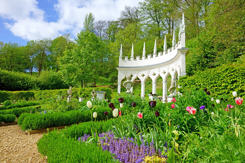Tulips and beautiful Spring in Rococo Gardens 00966