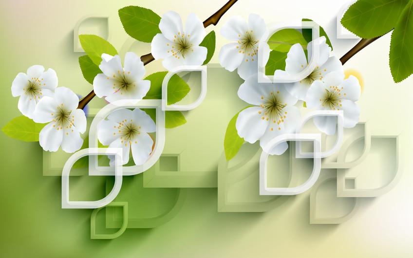 узор с цветами 01132