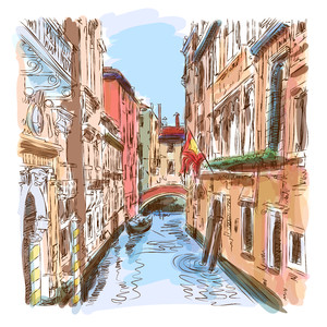 Venice - water canal 00467