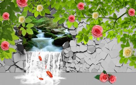 водопад в стене 01111