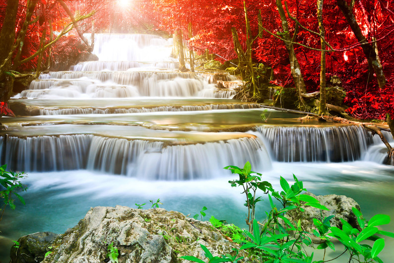 Waterfall in forest 00255