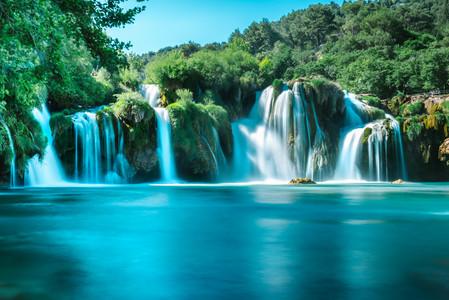 Waterfall Skradinski Buk in Krka 00298