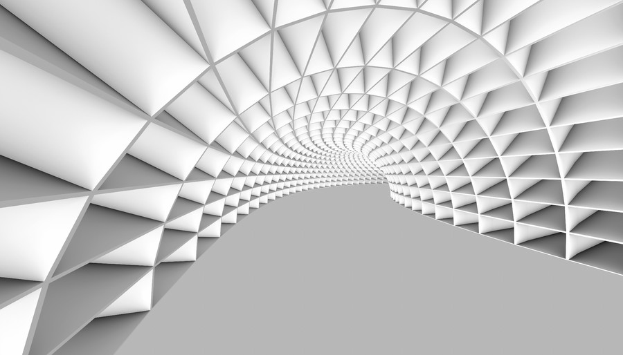 White Abstract Tunnel 00296