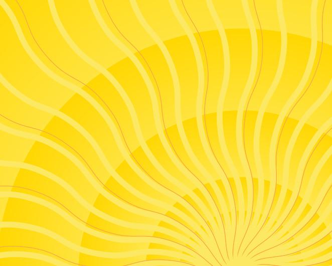 Yellow wavy sun 00856