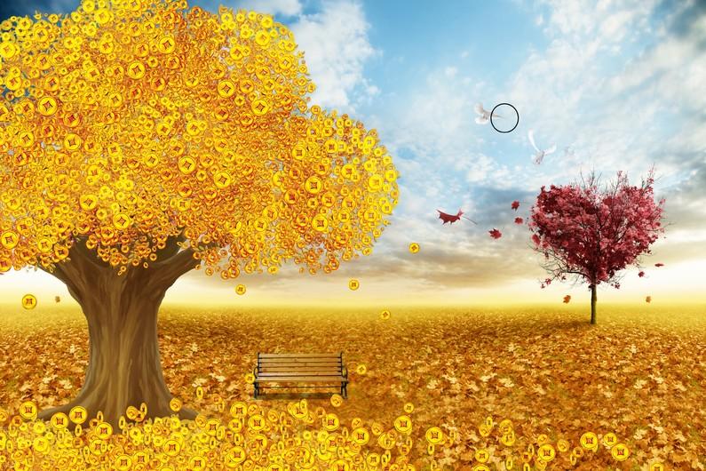 золотое дерево 01099