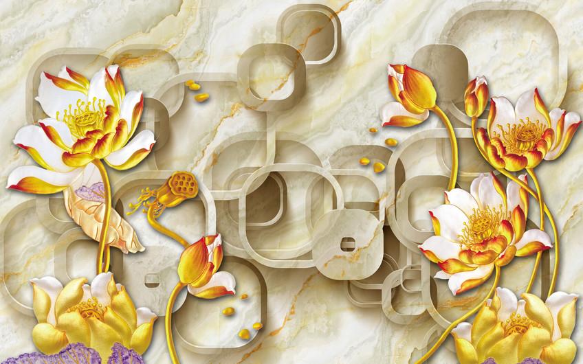 золотые цветы 01064