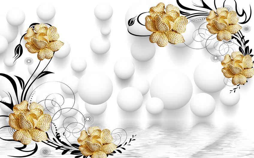 золотые цветы 01151